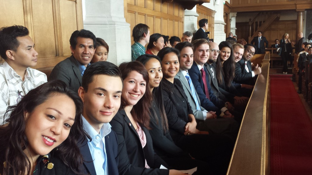 INYS Team at Leiden University Lecture by Vicepresident Boediono