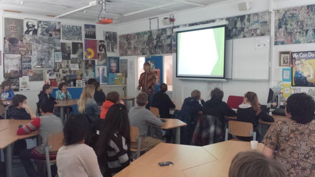 Jajang presenting in Voorburg